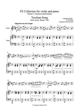 Fountayne Collection for violin and piano, volume 2 (Classical and Romantic)