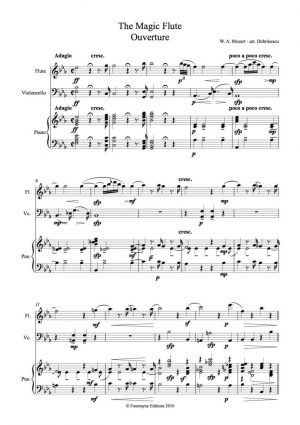 Mozart: Magic Flute Overture for flute, cello and piano