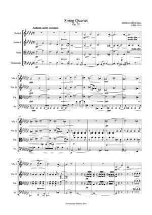 Henschel: String Quartet in E Flat Op. 55