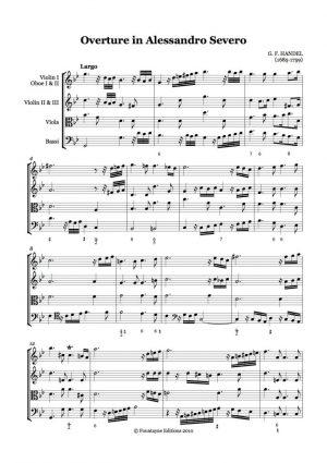 Handel: Alessandro Severo Overture