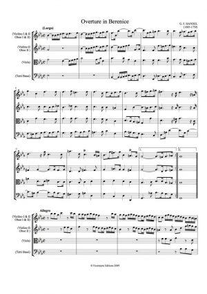 Handel: Berenice Overture
