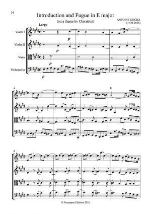 Reicha: 2 fugues for string quartet