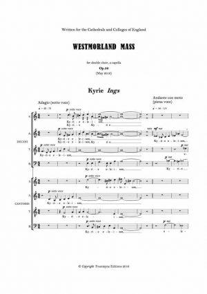 Weiland: Westmorland Mass OP. 56 (2016)