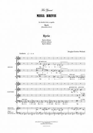 Weiland: Missa Brevis Op. 54 (2015)