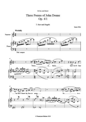 Ellis: Five Poems of John Dunne Op. 4 for soprano and piano; soprano and viola