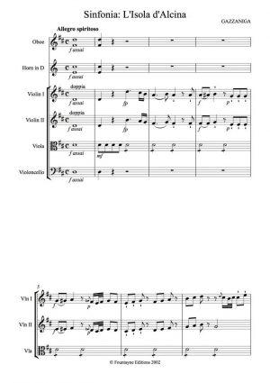 Gazzaniga: L'Isola d'Alcina Sinfonia