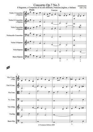Geminiani: Concerto Grosso Op.7 no. 3