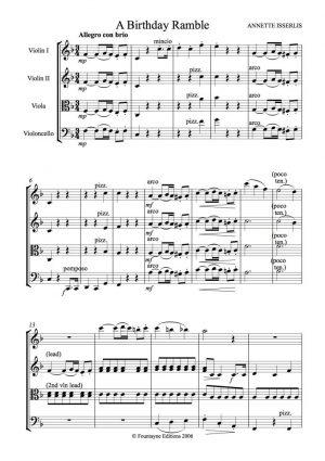 Isserlis: A Birthday Ramble for string quartet