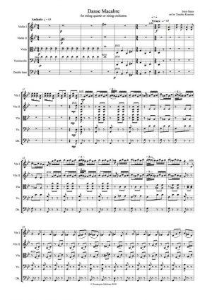 Saint-Saens: Danse Macabre for string quartet