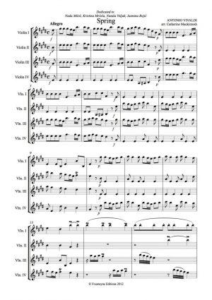 Vivaldi: Spring for 4 violins