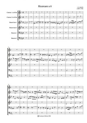 Bach: Ricercare for 2 clarinets, 2 basset-horns and 2 bassoons