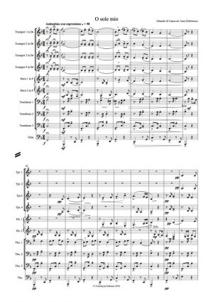 Capua: O Sole Mio for brass ensemble