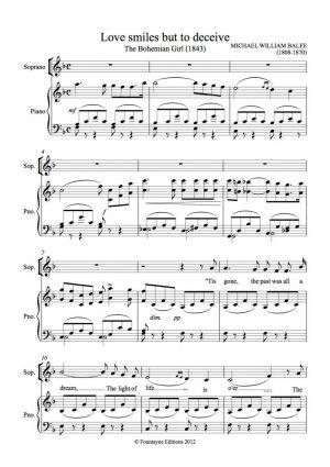 Balfe: Balfette for soprano and piano
