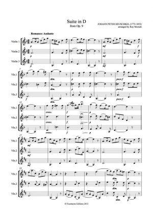 Heuschkel: Suite in D from Op. 9 for 3 violins