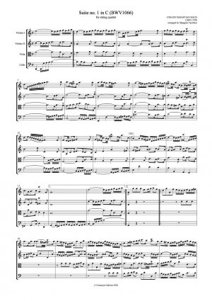 Bach, Johann Sebastian   Four Suites BWV1066-69 arranged for string quartet