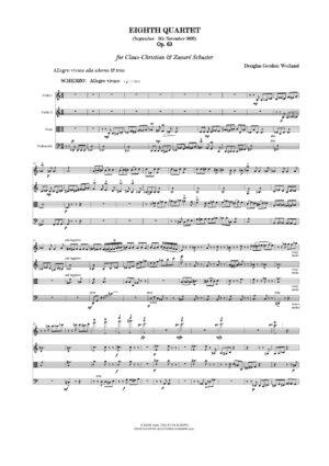 Weiland: Eighth Quartet Op. 63