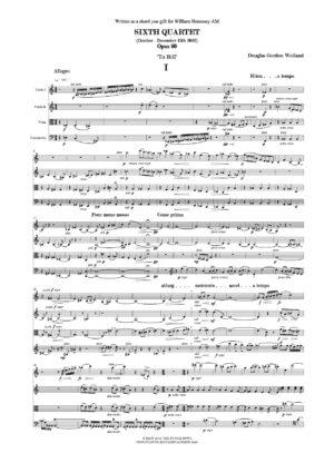Weiland Sixth Quartet Op. 60