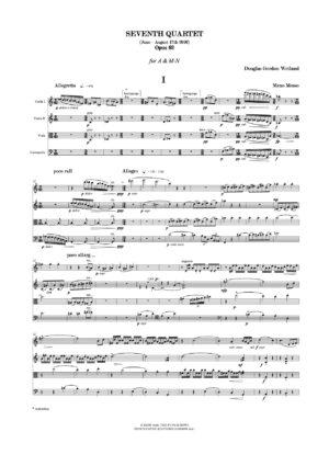 Weiland: Seventh Quartet Op. 61